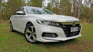 2019 Honda Accord 10th Gen MY19 VTi-LX Platinum White 1 Speed Constant Variable Sedan.