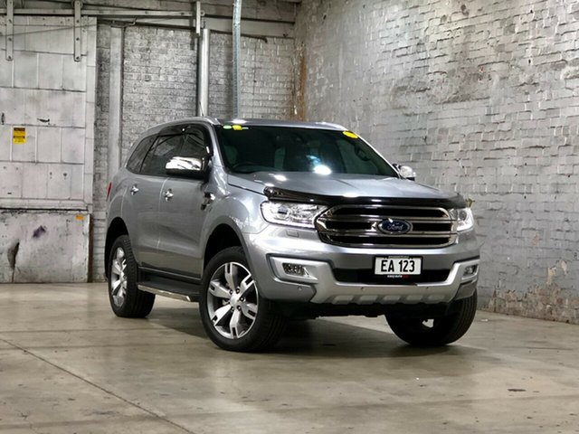 Used Ford Everest UA Titanium Mile End South, 2016 Ford Everest UA Titanium Silver 6 Speed Sports Automatic SUV