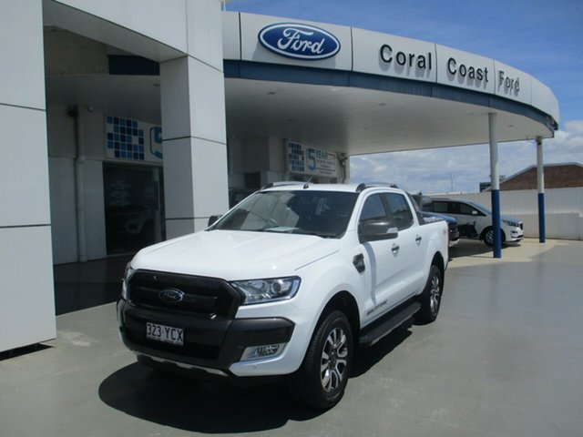 Used Ford Ranger PX MkII MY18 Wildtrak 3.2 (4x4) (5 Yr) Bundaberg, 2018 Ford Ranger PX MkII MY18 Wildtrak 3.2 (4x4) (5 Yr) White 6 Speed Automatic Dual Cab Pick-up
