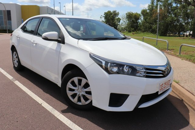 Pre-Owned Toyota Corolla ZRE172R Ascent S-CVT Palmerston, 2016 Toyota Corolla ZRE172R Ascent S-CVT Glacier White 7 Speed Automatic Sedan