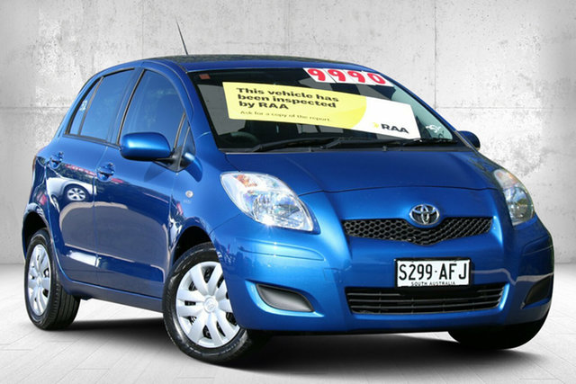 Used Toyota Yaris NCP90R MY10 YR Valley View, 2009 Toyota Yaris NCP90R MY10 YR Blue Mica Metallic 5 Speed Manual Hatchback