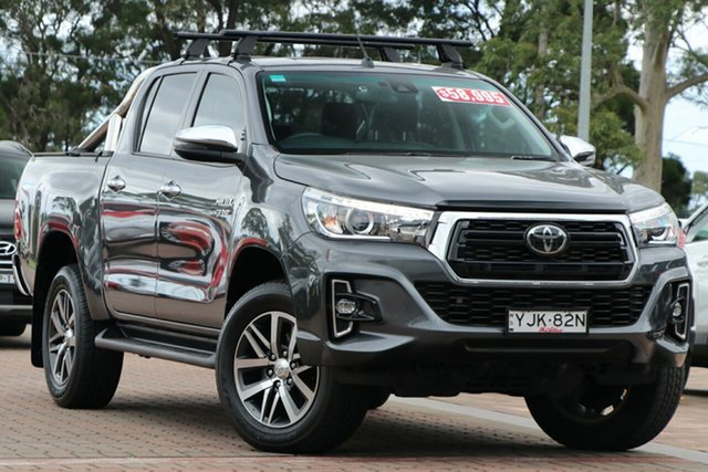Pre-Owned Toyota Hilux GUN126R SR5 Double Cab Warwick Farm, 2019 Toyota Hilux GUN126R SR5 Double Cab Grey 6 Speed Sports Automatic Utility