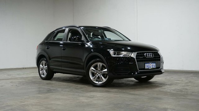 Used Audi Q3 8U MY16 TDI S Tronic Quattro Welshpool, 2015 Audi Q3 8U MY16 TDI S Tronic Quattro Black 7 Speed Sports Automatic Dual Clutch Wagon