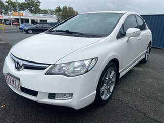 2008 Honda Civic 8th Gen MY08 Sport White 5 Speed Automatic Sedan