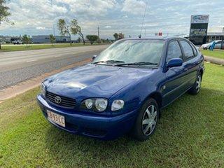 2000 Toyota Corolla AE112R Ascent Blue 5 Speed Manual Sedan.