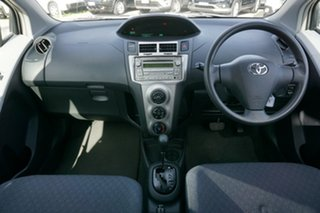 2010 Toyota Yaris NCP90R MY10 YR White 4 Speed Automatic Hatchback