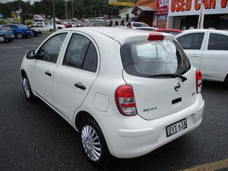 2011 Nissan Micra K13 ST White 4 Speed Automatic Hatchback.