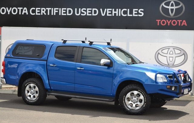 Pre-Owned Holden Colorado RG MY16 LTZ (4x4) Warwick, 2015 Holden Colorado RG MY16 LTZ (4x4) Blue 6 Speed Automatic Crew Cab Pickup