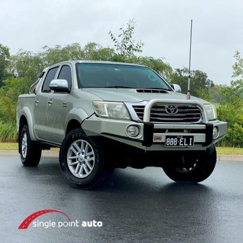 Used Toyota Hilux KUN26R MY12 SR5 Double Cab Chevallum, 2012 Toyota Hilux KUN26R MY12 SR5 Double Cab Silver 5 Speed Manual Utility
