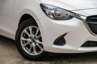 2018 Mazda 2 DL2SAA Maxx SKYACTIV-Drive Snowflake White Pearl 6 Speed Sports Automatic Sedan.