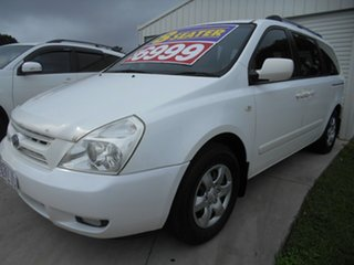 2009 Kia Carnival VQ MY09 EXE White 4 Speed Sports Automatic Wagon.