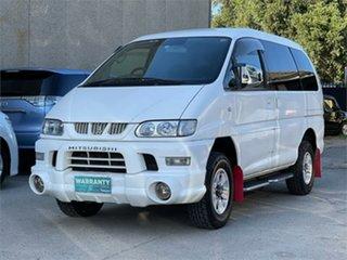 2006 Mitsubishi Delica PD6W Spacegear Chamonix White Automatic Van Wagon.