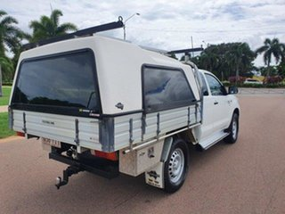 2015 Toyota Hilux KUN26R MY14 SR Xtra Cab White 5 Speed Manual Cab Chassis.