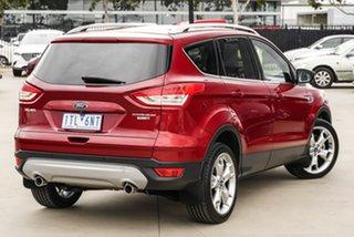 2016 Ford Kuga TF MY16.5 Titanium PwrShift AWD Red 6 Speed Sports Automatic Dual Clutch Wagon.