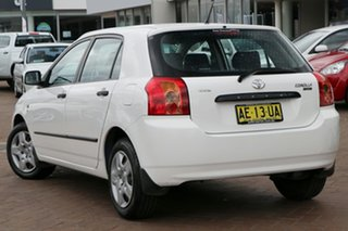 2005 Toyota Corolla ZZE122R 5Y Ascent White 4 Speed Automatic Hatchback.
