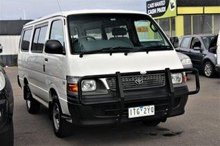 2004 Toyota HiAce RZH113R LWB White 5 Speed Manual Van.