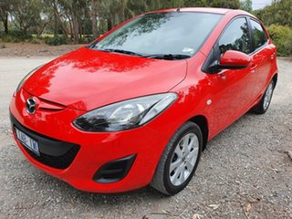 2012 Mazda 2 DE Series 2 Neo Red Automatic Hatchback.
