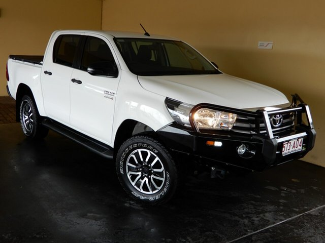 Used Toyota Hilux GUN126R MY17 SR (4x4) Toowoomba, 2017 Toyota Hilux GUN126R MY17 SR (4x4) White 6 Speed Manual Dual Cab Chassis