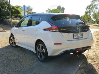2019 Nissan Leaf ZE1 Ivory Pearl & Black Roof 1 Speed Reduction Gear Hatchback