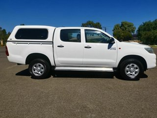 2013 Toyota Hilux KUN26R MY12 SR (4x4) White 4 Speed Automatic Dual Cab Pick-up.