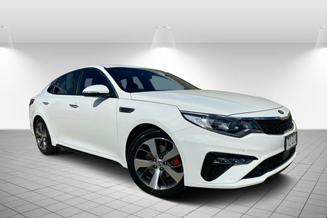 Used Kia Optima JF MY19 GT Hervey Bay, 2019 Kia Optima JF MY19 GT White 6 Speed Sports Automatic Sedan