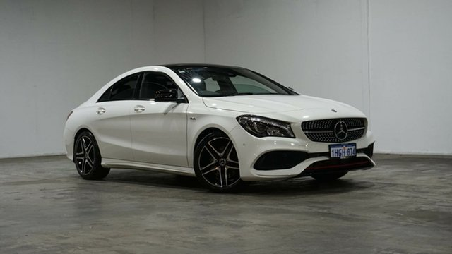 Used Mercedes-Benz CLA-Class C117 808MY CLA250 DCT 4MATIC Sport Welshpool, 2017 Mercedes-Benz CLA-Class C117 808MY CLA250 DCT 4MATIC Sport Cirrus White 7 Speed