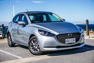 2020 Mazda 2 DJ2HAA G15 SKYACTIV-Drive Pure Silver 6 Speed Sports Automatic Hatchback.