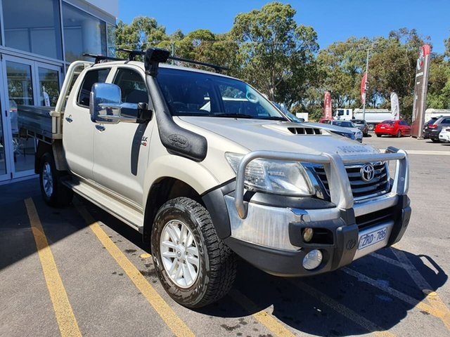 Used Toyota Hilux KUN26R MY12 SR5 Double Cab Epsom, 2012 Toyota Hilux KUN26R MY12 SR5 Double Cab Brown 5 Speed Manual Utility