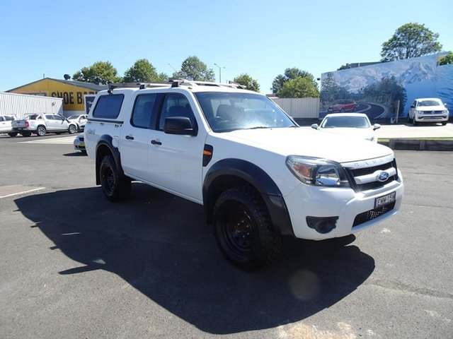 Used Ford Ranger PK XL Crew Cab Nowra, 2009 Ford Ranger PK XL Crew Cab Alabaster White 5 Speed Manual Utility