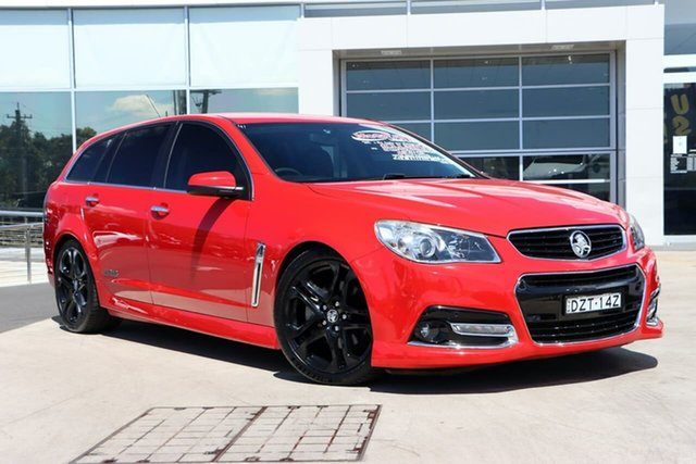 Used Holden Commodore VF MY14 SS V Sportwagon Liverpool, 2014 Holden Commodore VF MY14 SS V Sportwagon Red 6 Speed Sports Automatic Wagon