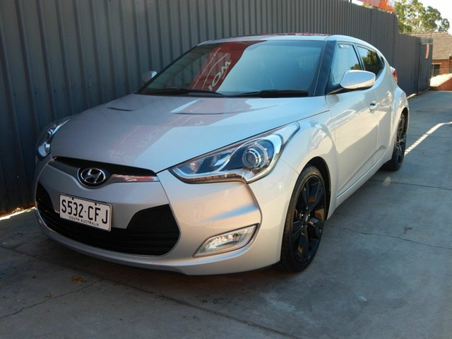 Used Hyundai Veloster FS3 + Coupe D-CT Blair Athol, 2014 Hyundai Veloster FS3 + Coupe D-CT Silver 6 Speed Sports Automatic Dual Clutch Hatchback
