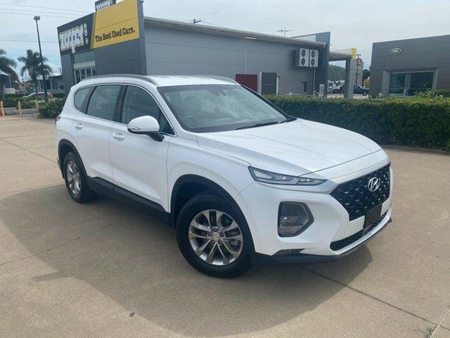 Used Hyundai Santa Fe TM MY19 Active Townsville, 2018 Hyundai Santa Fe TM MY19 Active White 8 Speed Sports Automatic Wagon