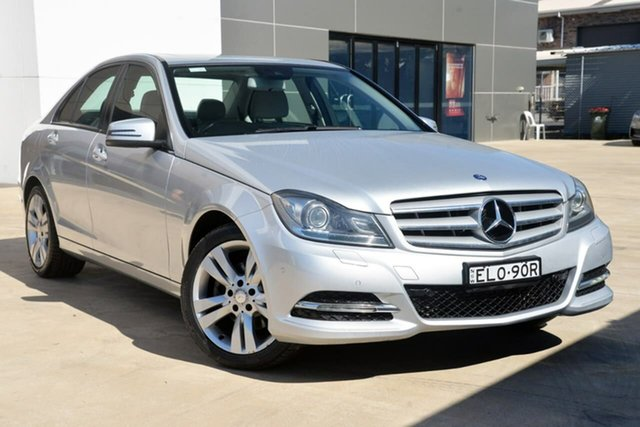 Used Mercedes-Benz C-Class W204 MY13 C200 7G-Tronic + Elegance Tuggerah, 2013 Mercedes-Benz C-Class W204 MY13 C200 7G-Tronic + Elegance Silver 7 Speed Sports Automatic Sedan