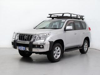 2010 Toyota Landcruiser Prado KDJ150R GXL (4x4) Silver, Chrome 5 Speed Sequential Auto Wagon.
