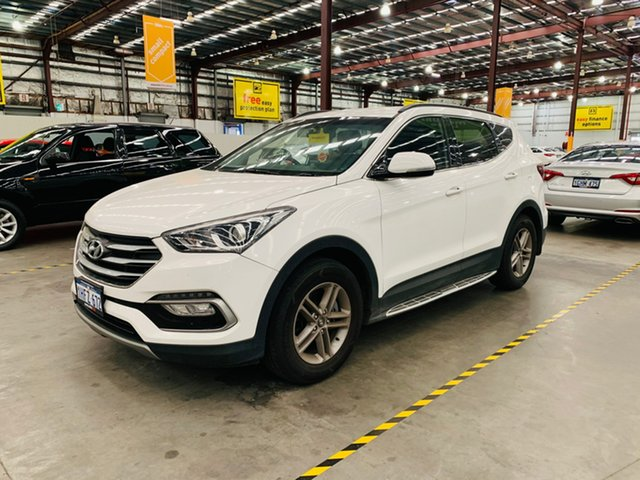 Used Hyundai Santa Fe DM3 MY16 Active Canning Vale, 2016 Hyundai Santa Fe DM3 MY16 Active White 6 Speed Sports Automatic Wagon
