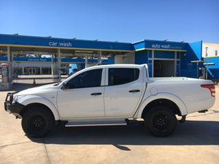 2015 Mitsubishi Triton MQ MY16 GLX Double Cab White 6 Speed Manual Utility