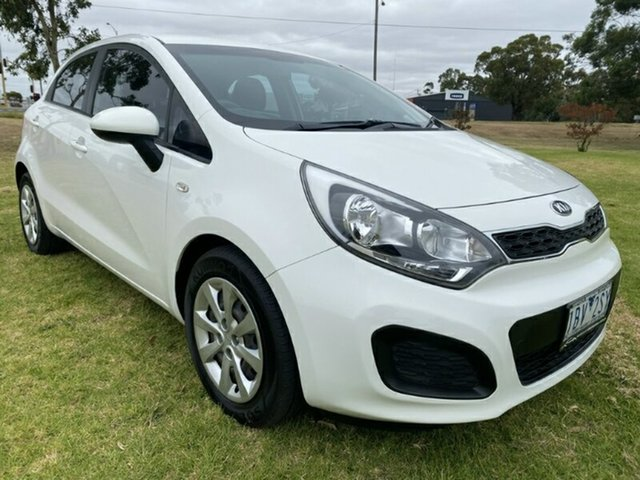 Used Kia Rio UB MY15 S Melton, 2014 Kia Rio UB MY15 S White 4 Speed Sports Automatic Hatchback