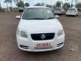 2007 Holden Barina White 5 Speed Manual Sedan.