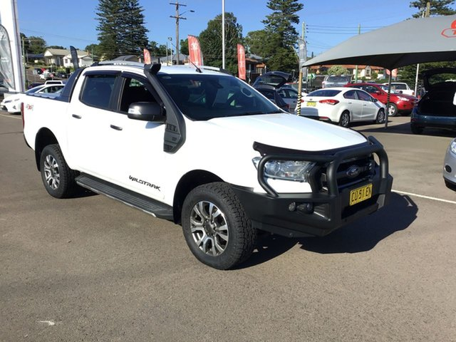 Used Ford Ranger PX MkII Wildtrak Double Cab Cardiff, 2017 Ford Ranger PX MkII Wildtrak Double Cab White 6 Speed Sports Automatic Utility