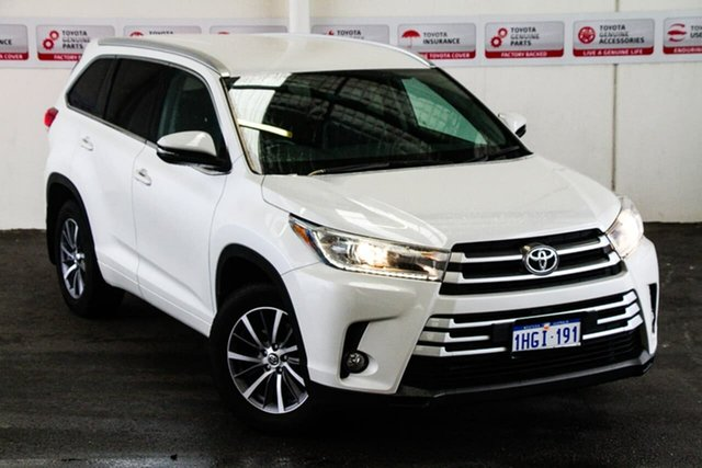Pre-Owned Toyota Kluger GSU55R MY17 GXL (4x4) Rockingham, 2017 Toyota Kluger GSU55R MY17 GXL (4x4) Crystal Pearl 8 Speed Automatic Wagon