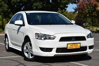 2008 Mitsubishi Lancer CJ MY08 VR White 6 Speed Constant Variable Sedan.