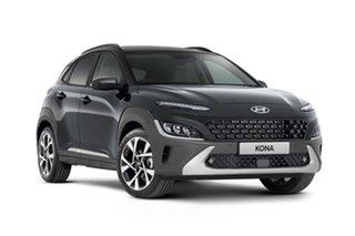 2020 Hyundai Kona Os.v4 MY21 Highlander 2WD Dark Knight & Black Roof 8 Speed Constant Variable Wagon
