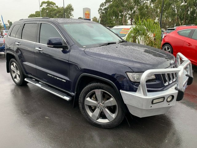 Used Jeep Grand Cherokee WK MY2014 Limited Bunbury, 2013 Jeep Grand Cherokee WK MY2014 Limited Blue 8 Speed Sports Automatic Wagon