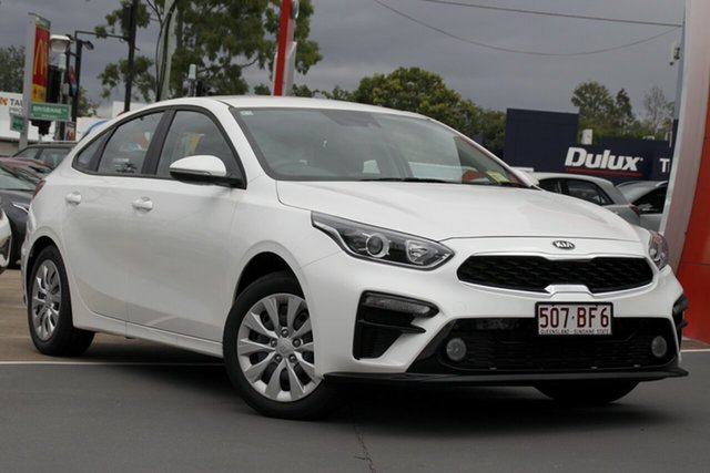 Demo Kia Cerato BD MY21 S Bundamba, 2020 Kia Cerato BD MY21 S Snow White Pearl 6 Speed Sports Automatic Hatchback
