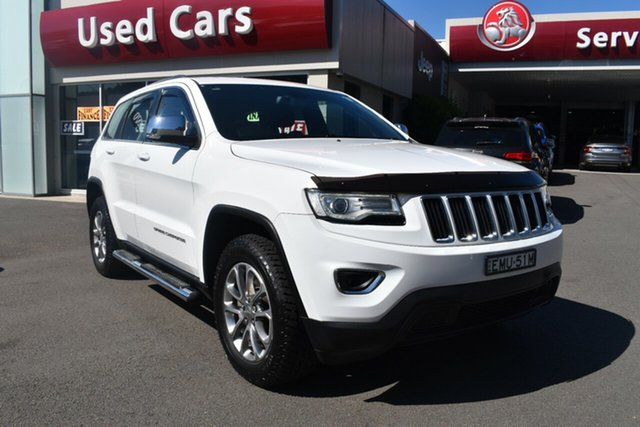 Used Jeep Grand Cherokee WK MY15 Laredo 4x2 Gosford, 2014 Jeep Grand Cherokee WK MY15 Laredo 4x2 White 8 Speed Sports Automatic Wagon