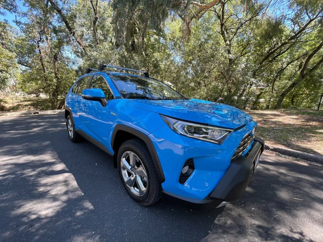 Demo Toyota RAV4 Axah52R GXL 2WD Hawthorn, 2021 Toyota RAV4 Axah52R GXL 2WD Eclectic Blue 6 Speed Constant Variable Wagon Hybrid