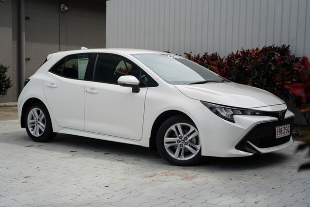 Used Toyota Corolla Mzea12R Ascent Sport Cairns, 2018 Toyota Corolla Mzea12R Ascent Sport White 10 Speed Constant Variable Hatchback