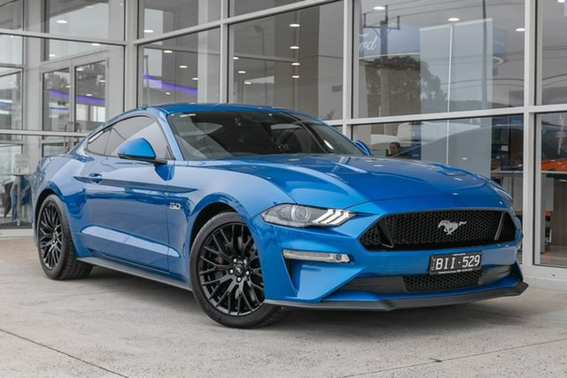 Used Ford Mustang FN 2020MY GT Ferntree Gully, 2020 Ford Mustang FN 2020MY GT Blue 10 Speed Sports Automatic Fastback