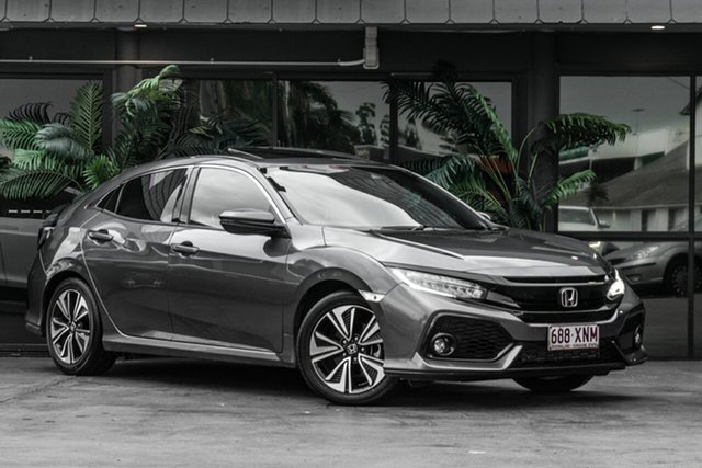 Used Honda Civic 10th Gen MY17 VTi-L Bowen Hills, 2017 Honda Civic 10th Gen MY17 VTi-L Grey 1 Speed Constant Variable Hatchback