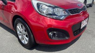 2014 Kia Rio UB MY14 S Signal Red 4 Speed Sports Automatic Hatchback.